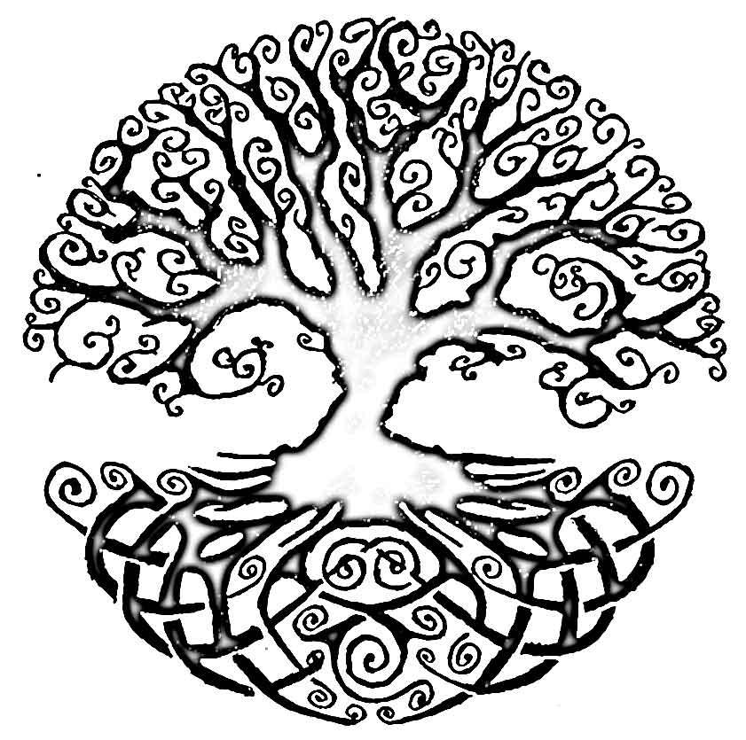 albero della vita come mandala da colorare